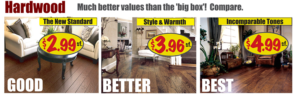 Hardwood Starting at $2.99 sq.ft.