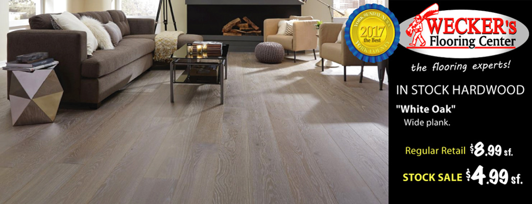 Wide Plank White Oak Hardwood $4.99 sq.ft.